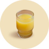 100% orange juice (Orange juice/Mixed vegetable and fruit juice)