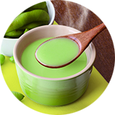 Edamame cream soup or Tomato cream soup