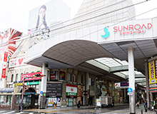 You will see the entrance to the Sunroad Shinshigai Arcade.