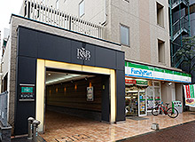 Next to the FamilyMart will be the entrance to our hotel.