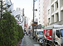 After passing the Saizeriya, turn left. You will find our hotel to your front-right side.