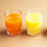 야채와 과즙 주스 100% 오렌지 주스