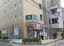 Keep going for another 2 minutes, and you will see a 7-Eleven on a main street. That is the building for the R&B Hotel Sendai Hirose-dori Ekimae.